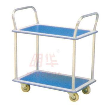 轻型钢制平板推车双层
