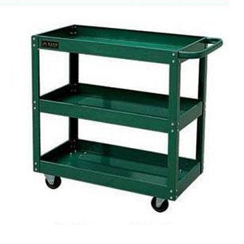 钢制平板手推车三层绿色