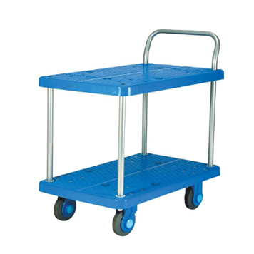塑料平板推车(双层)